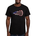 Lacrosse FlagHead Men's Fitted T-Shirt (dark)