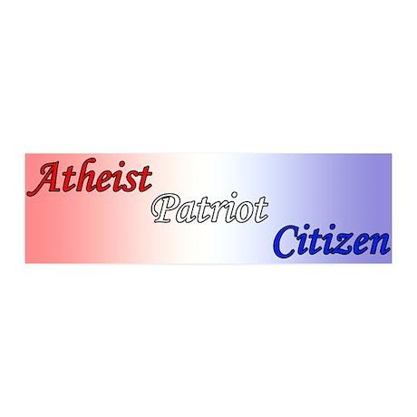 Atheist, Patriot, Citizen 20x6 Wall Decal