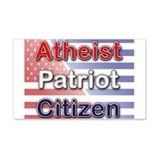 Atheist, Patriot, Citizen Wall Decal