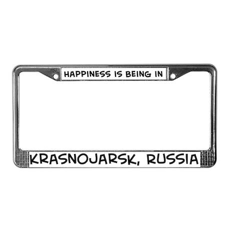 Happiness is Krasnojarsk License Plate Frame