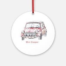 Mini Cooper Ornament (Round)