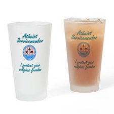 Atheist Servicemember Drinking Glass