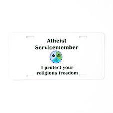 Atheist Servicemember Aluminum License Plate