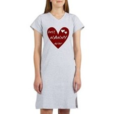 Heart Best Nanny Ever Women's Nightshirt