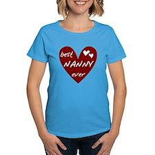 Heart Best Nanny Ever Tee