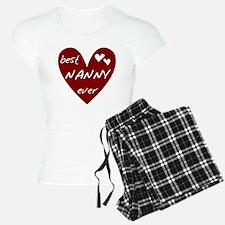Heart Best Nanny Ever Pajamas