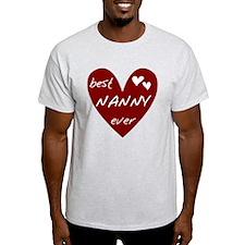 Heart Best Nanny Ever T-Shirt