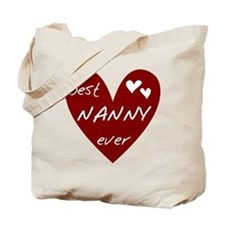 Heart Best Nanny Ever Tote Bag