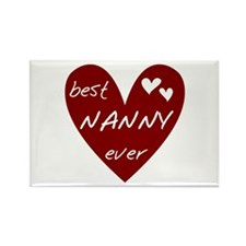 Heart Best Nanny Ever Rectangle Magnet