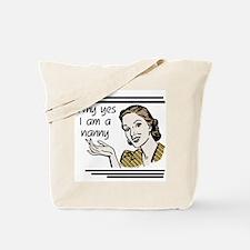 Retro Nanny Tote Bag