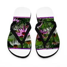 Daisies, colorful, photo, Flip Flops