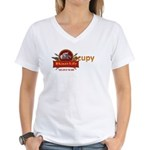 Rhino's Life Occupy Women's V-Neck T-Shirt