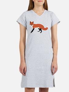 Cute Fox Women's Nightshirt