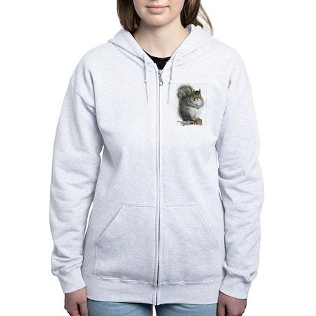 Eastern Gray Squirrel Women's Zip Hoodie