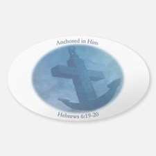 Anchored In Him Scripture Decal
