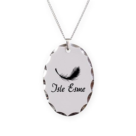 Isle Esme Necklace Oval Charm