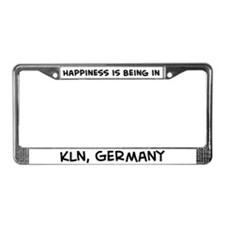 Happiness is Köln License Plate Frame