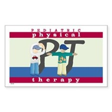 Pediatric Physical Therapy Rectangle Decal