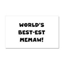 Black White Best Memaw Car Magnet 20 x 12