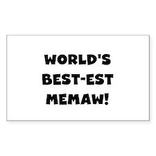 Black White Best Memaw Decal