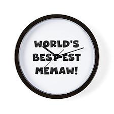 Black White Best Memaw Wall Clock