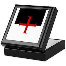 Knights Templar (black/white) Keepsake Box