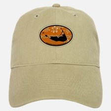 Nantucket MA - Oval Design Baseball Baseball Cap