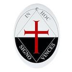 Knights Templar (Latin) Ornament (Oval)