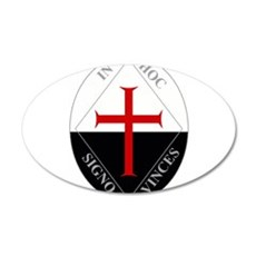 Knights Templar (Latin) 22x14 Oval Wall Peel