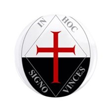 "Knights Templar (Latin) 3.5"" Button"