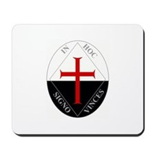 Knights Templar (Latin) Mousepad
