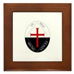 Knights Templar (Latin) Framed Tile