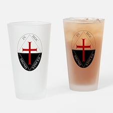 Knights Templar (Latin) Drinking Glass