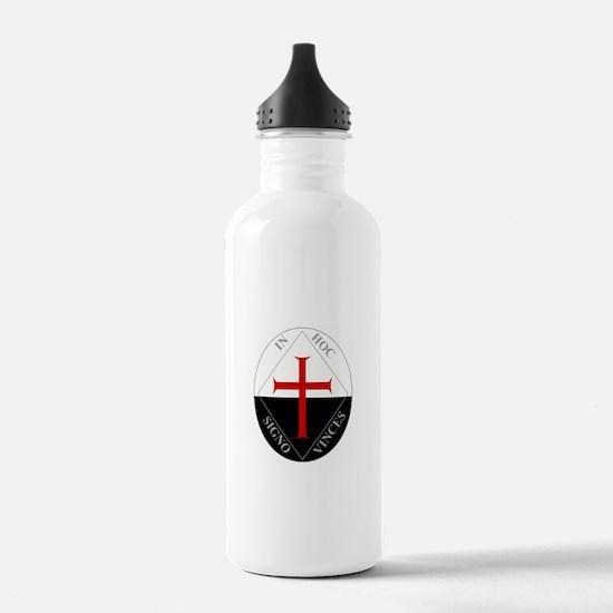 Knights Templar (Latin) Water Bottle