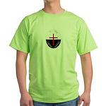 Knights Templar (Latin) Green T-Shirt