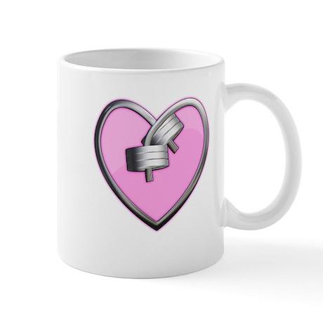 Barbell Heart (pink) Mug