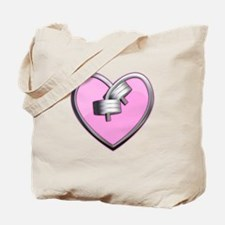 Barbell Heart (pink) Tote Bag