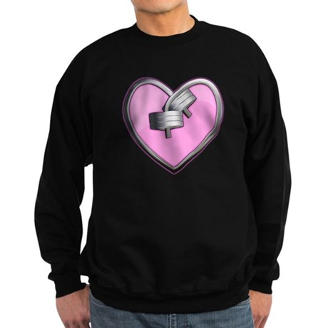 Barbell Heart (pink) Sweatshirt (dark)