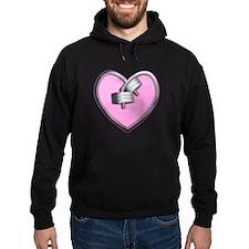 Barbell Heart (pink) Hoodie