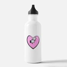 Barbell Heart (pink) Water Bottle