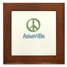 Peace Asheville Framed Tile