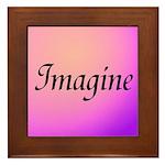 Imagine Pink Framed Tile