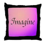Imagine Pink Throw Pillow
