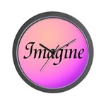 Imagine Pink Wall Clock