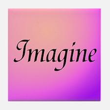 Imagine Pink Tile Coaster