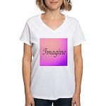 Imagine Pink Women's V-Neck T-Shirt