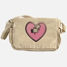 Barbell Heart (pink) Messenger Bag