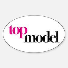 Top Model Sticker (Oval)