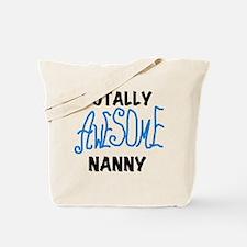 Blue Awesome Nanny Tote Bag