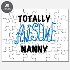 Blue Awesome Nanny Puzzle